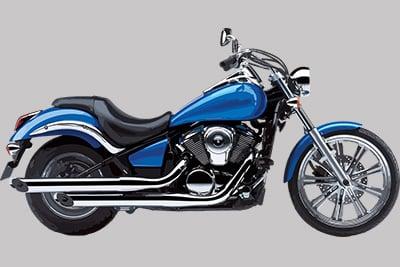 blue cruiser motorcycle