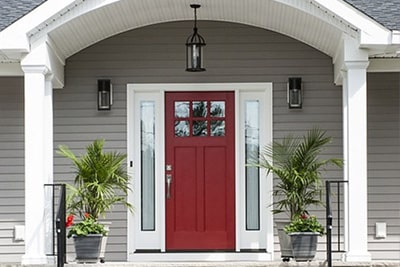 home with a red door